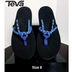 NWOT Teva Women Sandals Blue O Ring Flip Flop